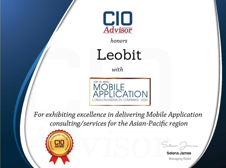 Leobit Named Top Mobile Application Service Company 2020 by CIO Advisor