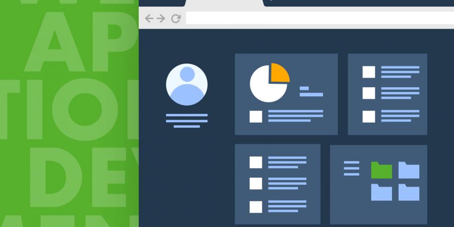 web app development illustration