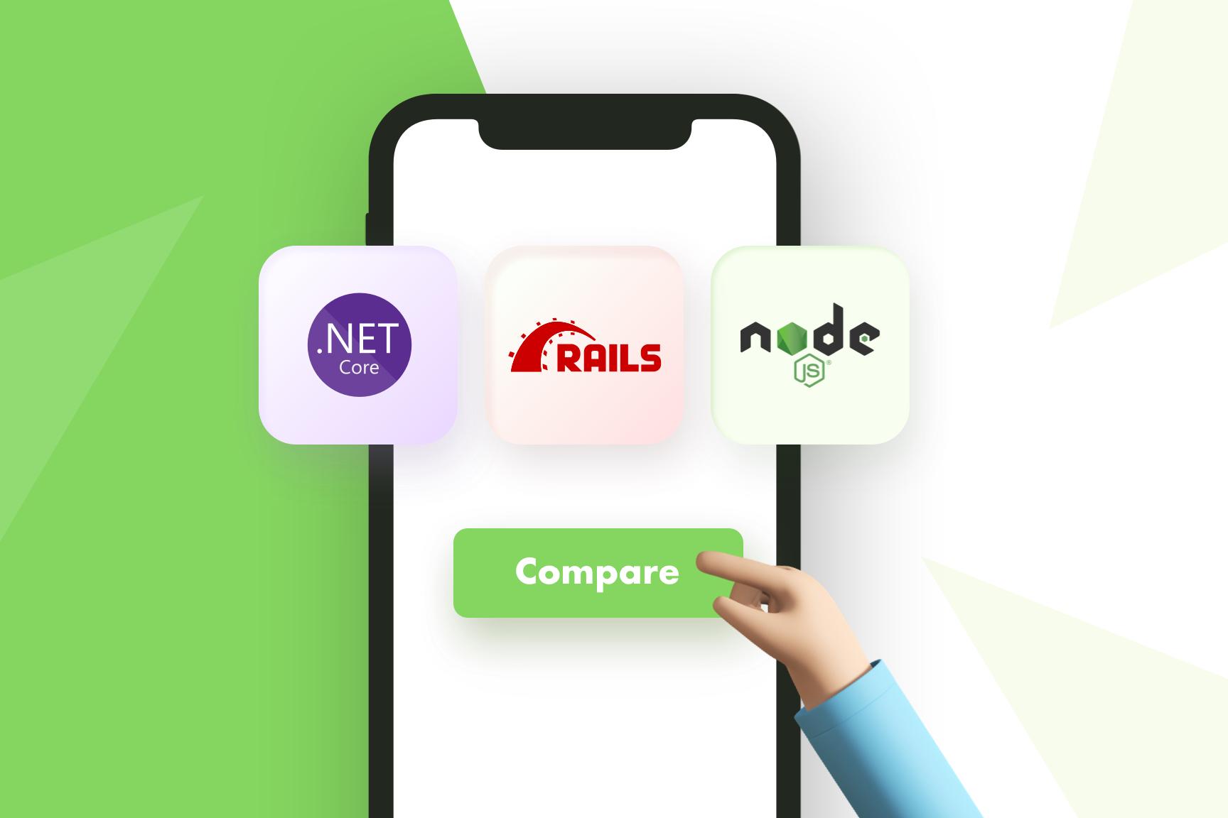 NET Core vs Node.js vs RoR